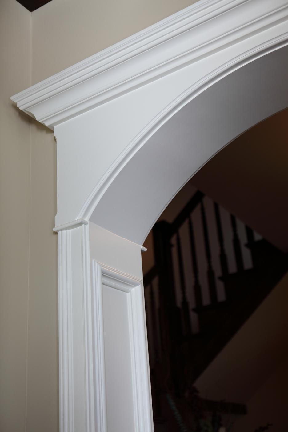 Arched Top Cased Opening With Header Capital
