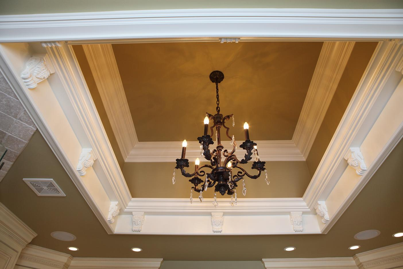 Coffered Ceiling Box - Built by Battaglia Homes