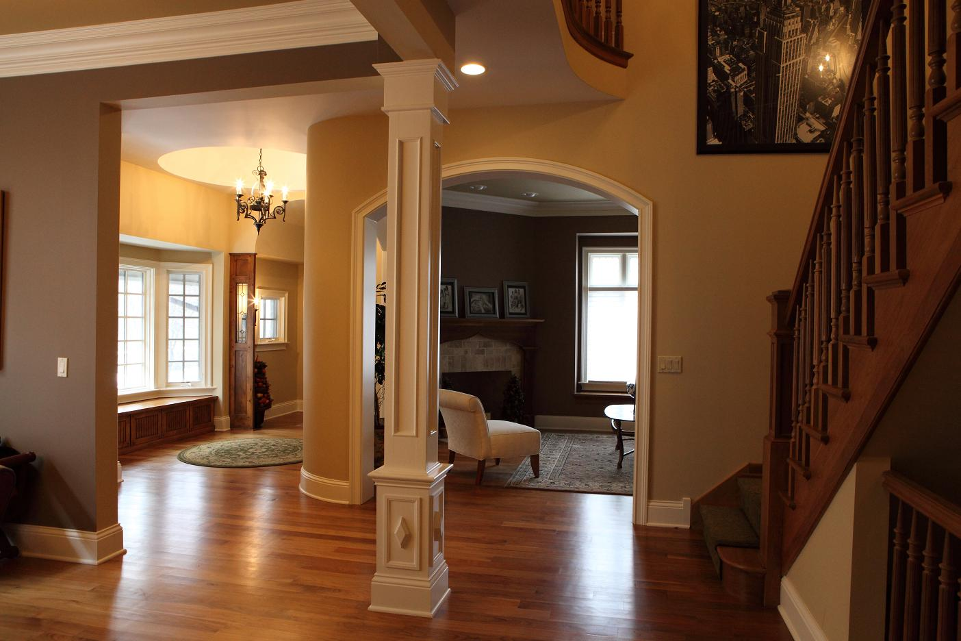 Interior Columns battaglia homes - the very best in interior trim (part ii