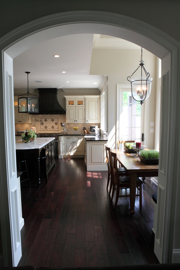 Battaglia Homes - Wide Plank Scraped Walnut Hardwood Floors