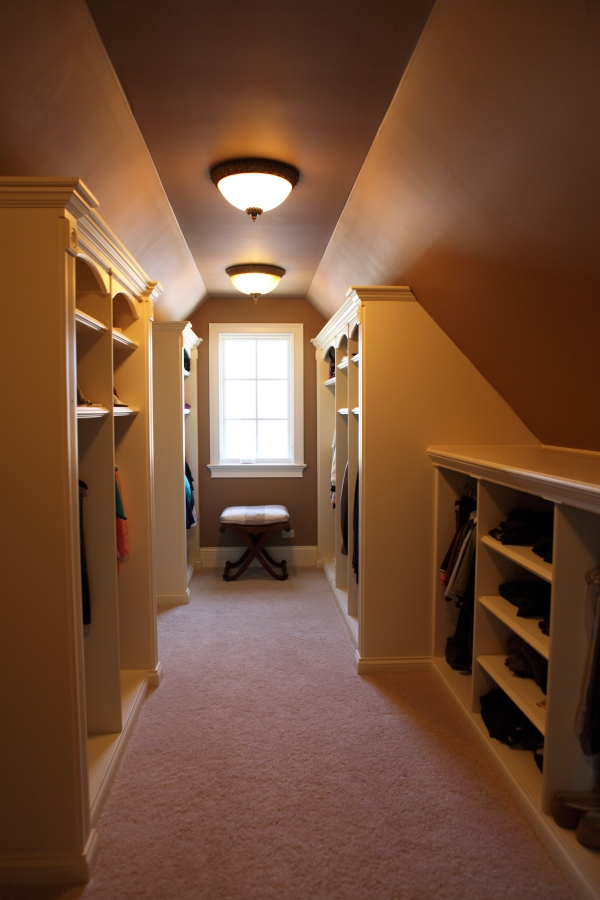 Custom Carpenter Built Closets - Battaglia Homes - Hinsdale, IL