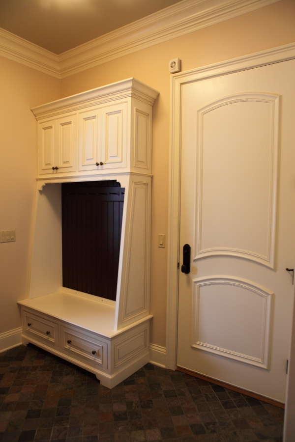 Mudroom with Seat Bench Cabinetry - by Battaglia Homes