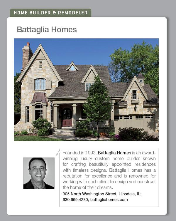 Carlo Battaglia, President, Battaglia Homes, custom home builders - Hinsdale, IL- Luxe Magazine - Spring 2013