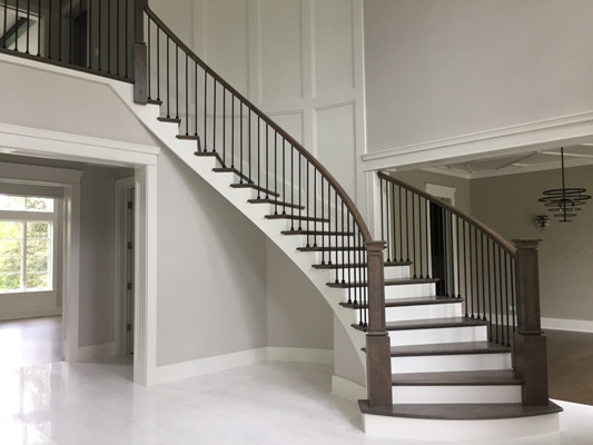 Battaglia Homes - Custom Built Home Oak Brook - Circular Staircase
