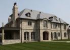 Front Elevation and Rear Porch - Stone, Brick & Cedar