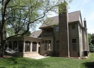 Rear Elevation - Brick Chimney & Cedar Screened-in Porch