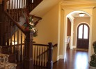 Milled Cherry Wood Staircase and Entryway