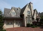 Front Elevation - Stone, Brick, Cedar & Slate Roof
