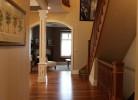 Hallway into Living Room - Walnut Hardwood Floors