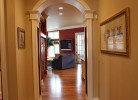 Hallway into Family Room - Walnut Hardwood Floors