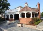 Pool House Exterior - Brick, Cedar Shake Roof, Decorative Cedar Balusters, Cedar Dental Molding Trim, Decorative Cupola with Copper Roof & Blue Stone