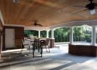 Pool House Interior - Brick,  Blue Stone Floor, Beadboard Ceiling & Bathroom