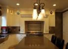 Kitchen - Caesar Stone Countertops, Hammered Stainless Steel Sink, Glass Tile Backsplash