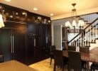 Kitchen Eating Area - Custom Cabinets & Travertine Flooring